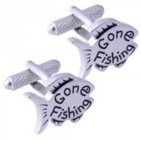 Onyx-Art Gone Fishing Cufflinks