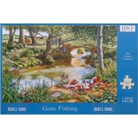 House Of Puzzles Gone Fishing Jigsaw - 500 Pieces