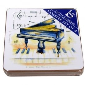 Little Snoring Grand Piano Coasters Set of 4