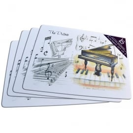 Little Snoring Grand Piano Placemats Set of 4