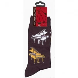 Tie studio Grand Piano Socks in Black