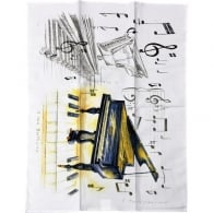 Little Snoring Grand Piano Tea Towel