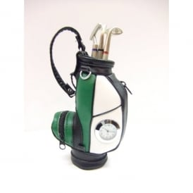 Clere Concepts Green Golf Bag Pen Stand with Clock