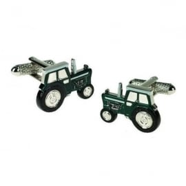 Onyx-Art Green Tractor Cufflinks