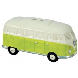 Elgate Green & White VW Campervan Money Box