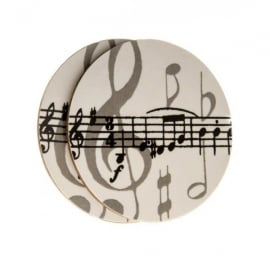 Music Gifts Company Grey Music Notes Twin Pack of Mug Coasters