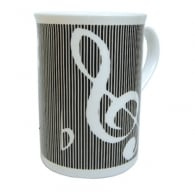 Music Gifts Company Grey & Silver Clefs Bone China Mug