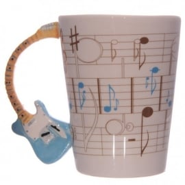 Puckator Guitar Handle Mug - Blue