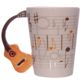 Puckator Guitar Handle Mug - Orange