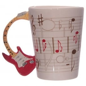 Puckator Guitar Handle Mug - Red