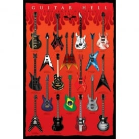 Pyramid Guitar Hell Large Maxi Poster