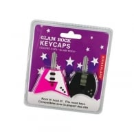 Kikkerland Guitar Key Caps Pink / Black- Pack of 2