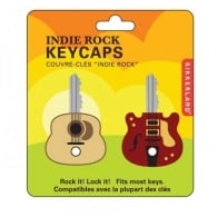 Kikkerland Guitar Key Caps Red  / Yellow Mixed - Pack of 2