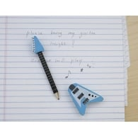 Kikkerland Guitar Pencil With Eraser in Blue