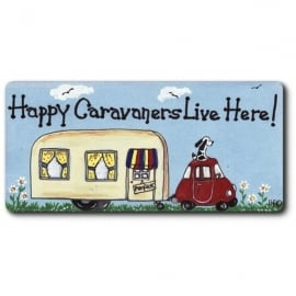 Something Different Happy Caravaners Live Here Magnet