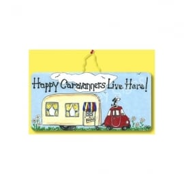 Something Different Happy Caravaners Live Here Sign