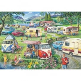 House Of Puzzles Happy Holidays Campervan Jigsaw - (1000 Pieces)
