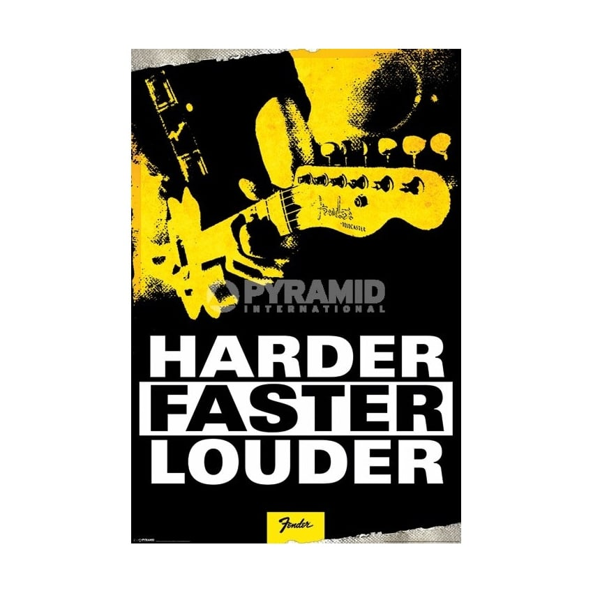 Pyramid Harder Faster Louder Maxi Poster