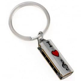 Orchid Designs Harmonica Keyring