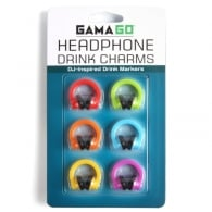 Cubic Headphones Drink Charms - Set of 6