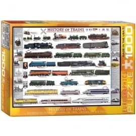 EuroGraphics History Of Trains Jigsaw - 1000 Pieces