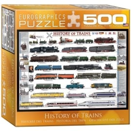 EuroGraphics History Of Trains Jigsaw - 500 Pieces