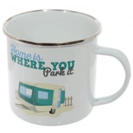 Puckator Home Is Where You Park It Enamel Mug