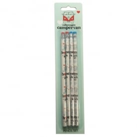 Elgate Home is where you park it VW Campervan Pencil Set of 4