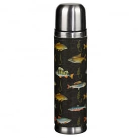Wild & Wolfe Hook Line & Sinker Flask in Black