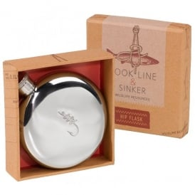 Wild & Wolfe Hook Line & Sinker Hip Flask