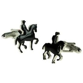 Onyx-Art Horse Dressage Cufflinks