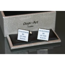 Onyx-Art I'd Rather Be At The Races Cufflinks