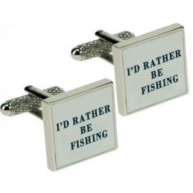 Onyx-Art I'd Rather Be Fishing Cufflinks