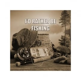 art2glass I'd Rather Be Fishing Glass Coaster Single in Box