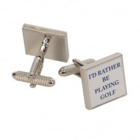 Onyx-Art I'd Rather Be Playing Golf Cufflinks