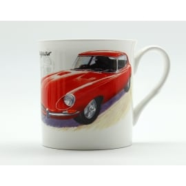 Little Snoring Jaguar Red E-Type Mug