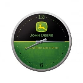 Casa Grande John Deere Black/Green Face Glass Wall Clock