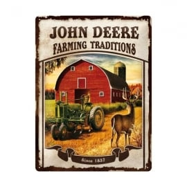 Casa Grande John Deere Farming Traditions Large Tin Sign