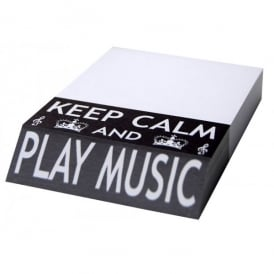 Little Snoring Keep Calm and Play Music Slant Pad