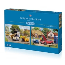 Gibsons Knights Of The Road Jigsaw (2 x 500 Pieces)