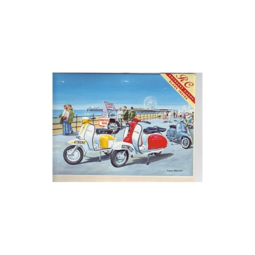 Rothbury Publishing Lambretta Day Out Greeting Cards - Pack of 6