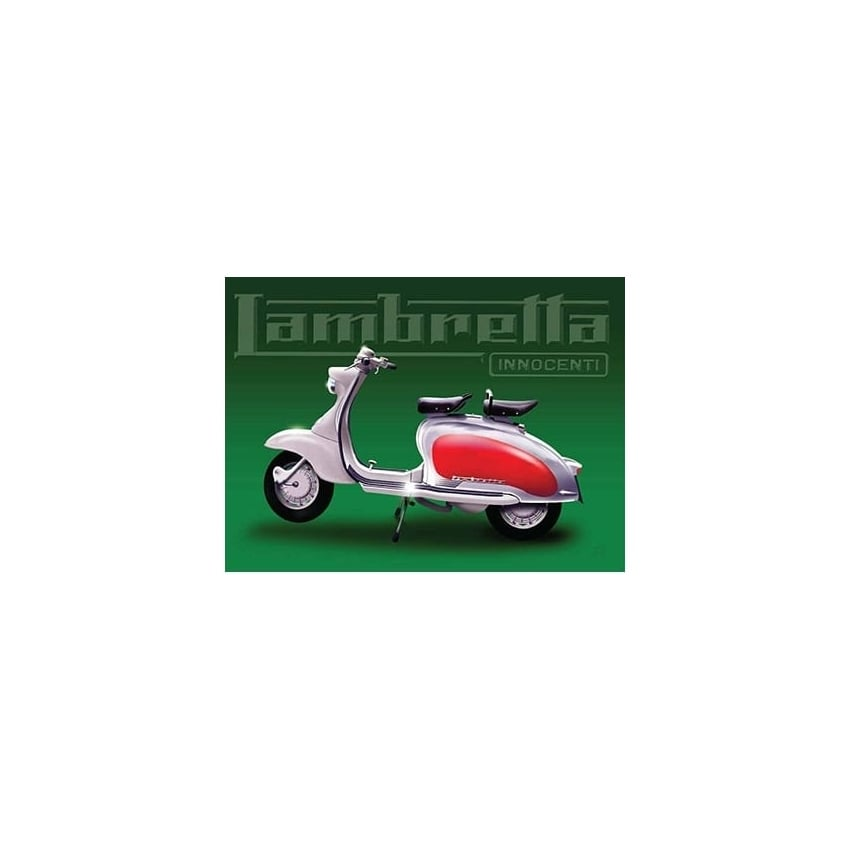 Original Metal Sign Company Lambretta Green Fridge Magnet