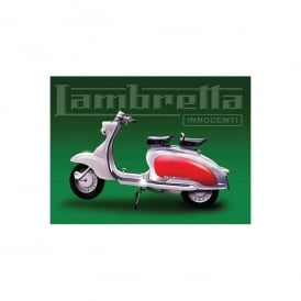 Original Metal Sign Company Lambretta Green Metal Sign