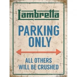 Original Metal Sign Company Lambretta Parking Only Fridge Magnet