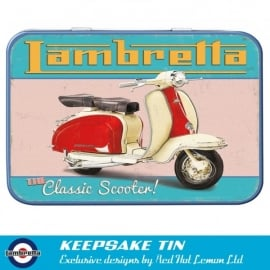Red Hot Lemon Lambretta Retro Keepsake Tin