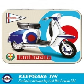 Red Hot Lemon Lambretta SX150 Target Keepsake Tin