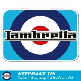 Red Hot Lemon Lambretta Target Keepsake Tin
