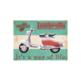 Original Metal Sign Company Lambretta Way of Life Fridge Magnet