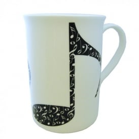 Music Gifts Company Large Quavers Bone China Mug
