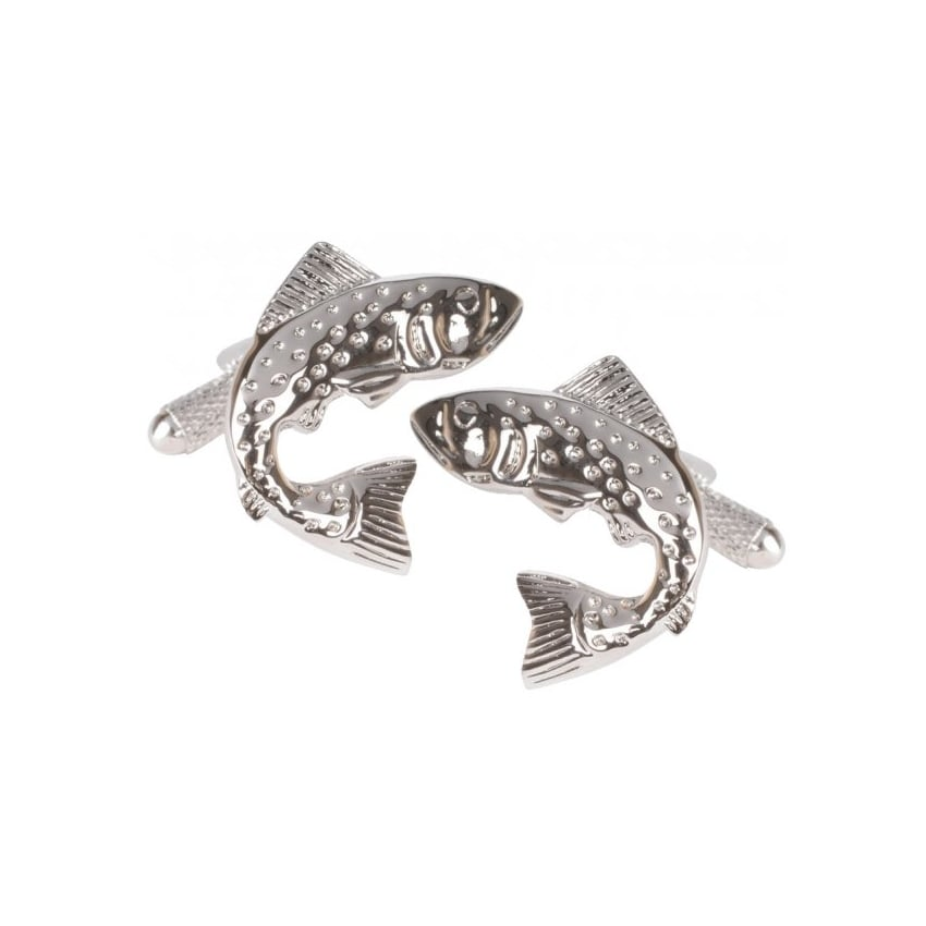 Onyx-Art Leaping Fish Cufflinks